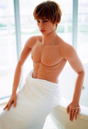 Sexpuppe für Frauen Luxusvariante mit Badehandtuch
