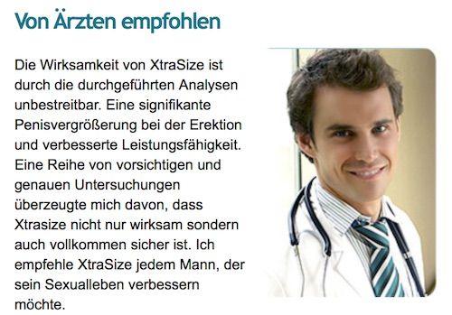 Arzt mit Aussage zum Produkt