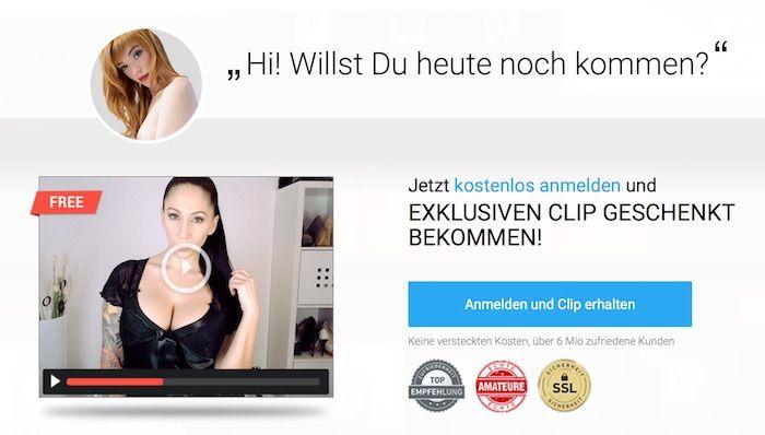 Vorschau der Webseite mit Frau im Chat